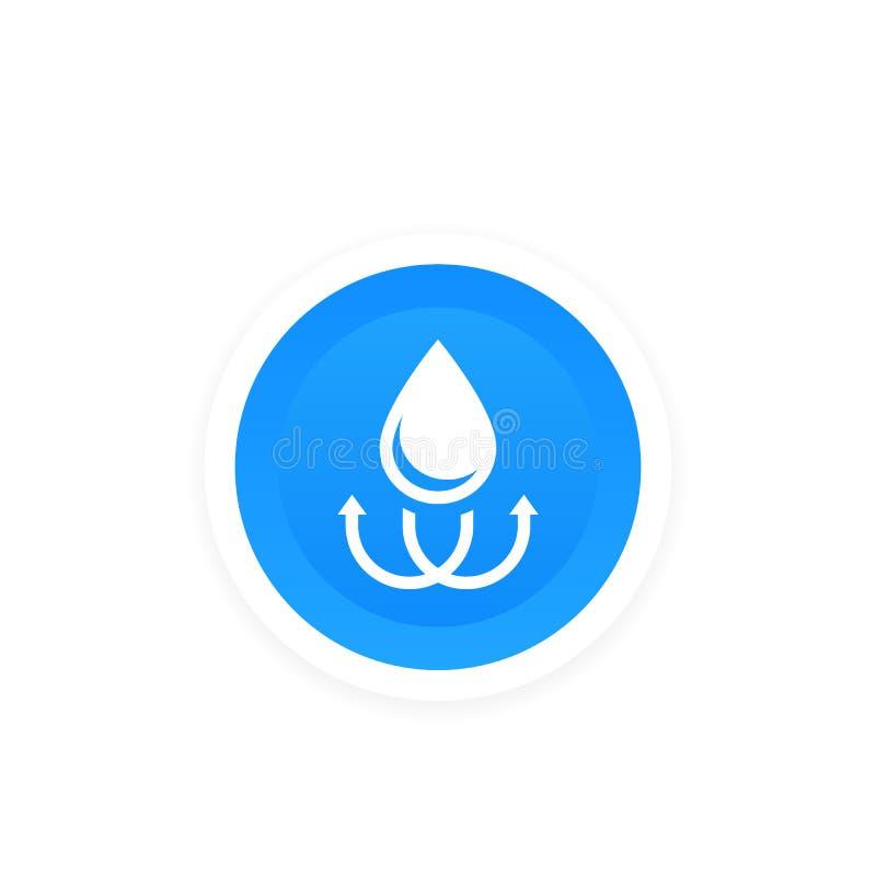 Prenda impermeable, muestra resistente de agua, etiqueta libre illustration