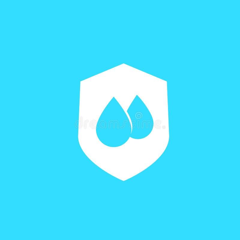 Prenda impermeable, símbolo resistente de agua libre illustration