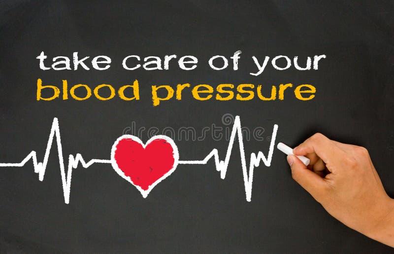 Prenda la cura della vostra pressione sanguigna immagini stock libere da diritti
