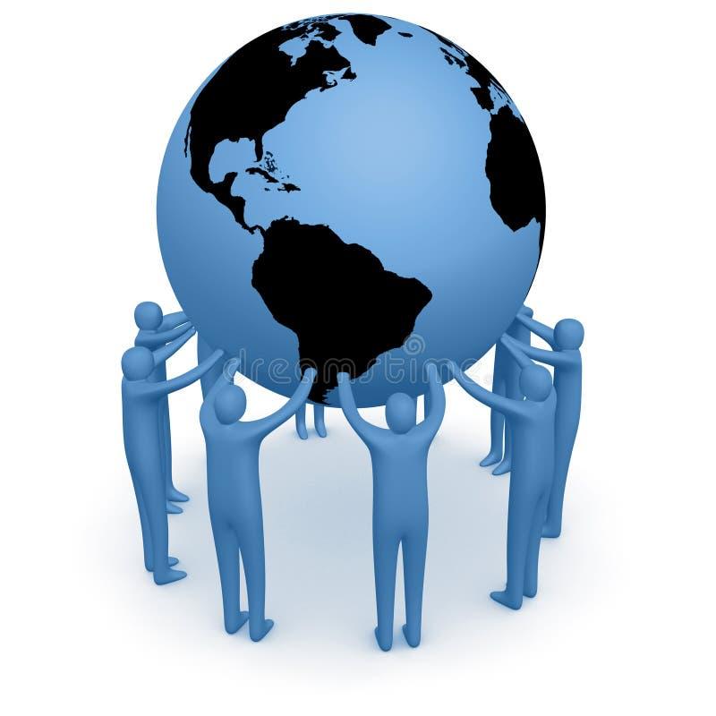 Prenda o mundo ilustração do vetor
