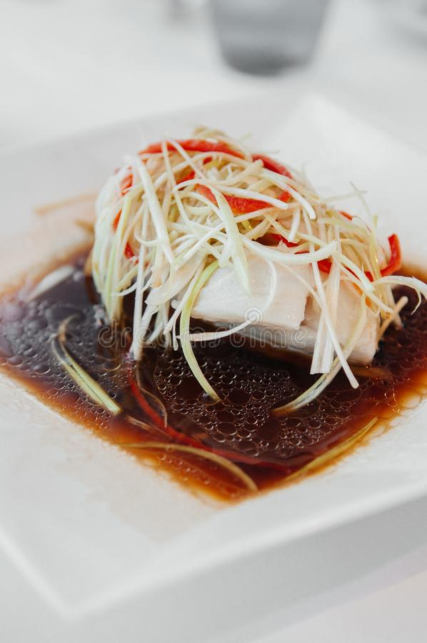 Prendedero cocido al vapor de los mordedores del estilo chino con la salsa de soja foto de archivo