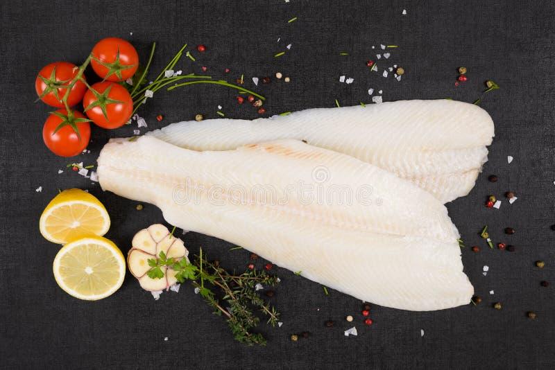 Prendedero fresco del halibut fotografía de archivo