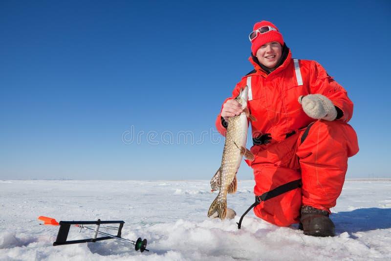 Prendedor de Fishermans imagem de stock