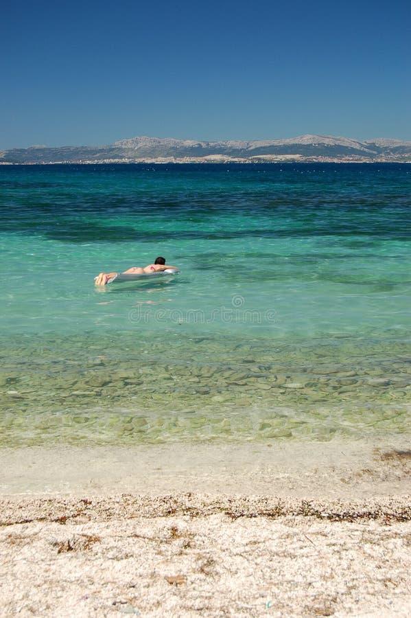 Prendendo il sole nel Croatia fotografia stock libera da diritti