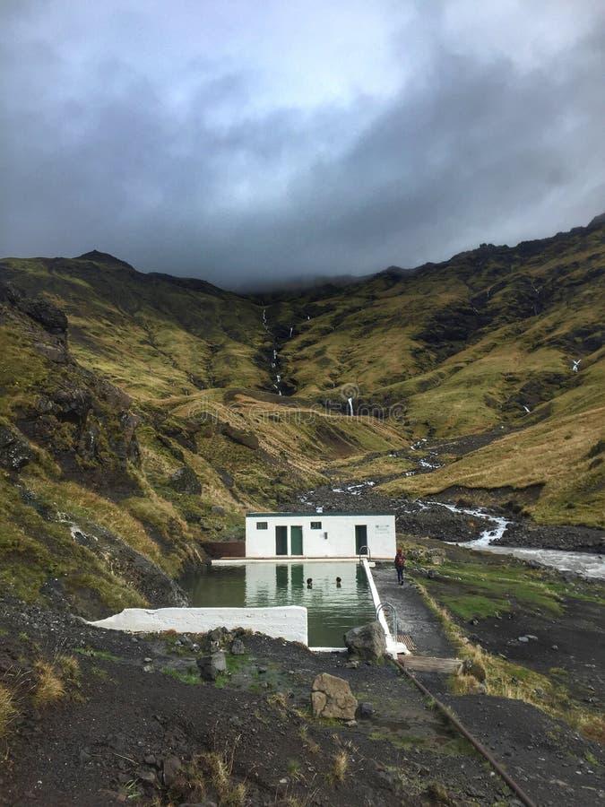 Prendendo l'Islanda dalla tempesta immagine stock
