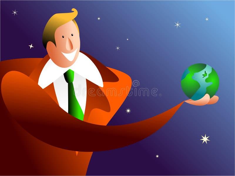 Prendendo o mundo ilustração royalty free