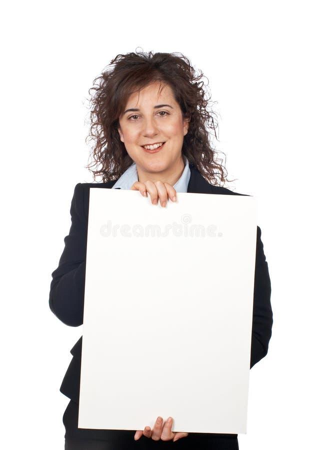 Prendendo o poster em branco imagens de stock royalty free