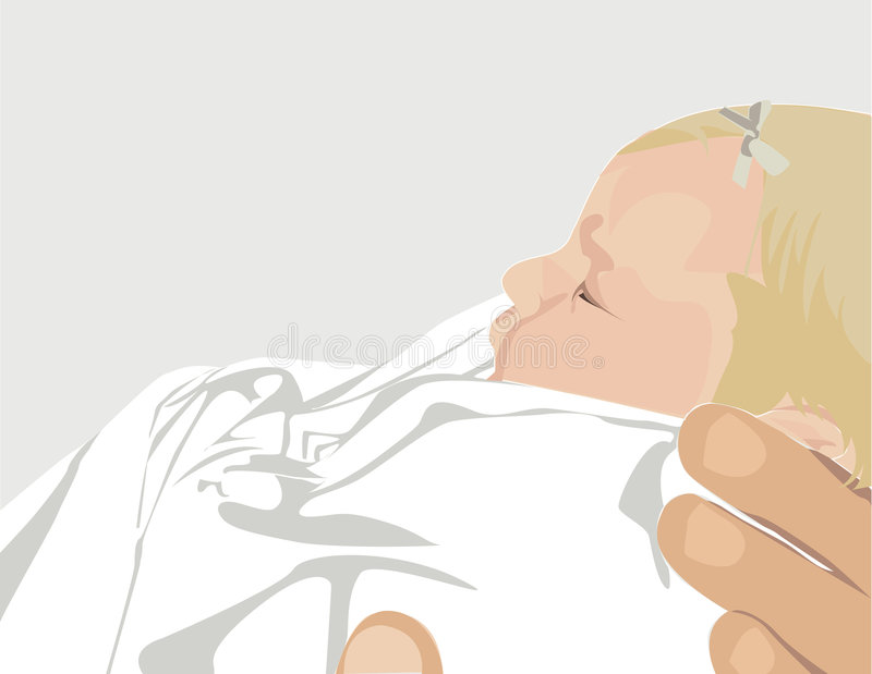 Prendendo um bebê ilustração do vetor