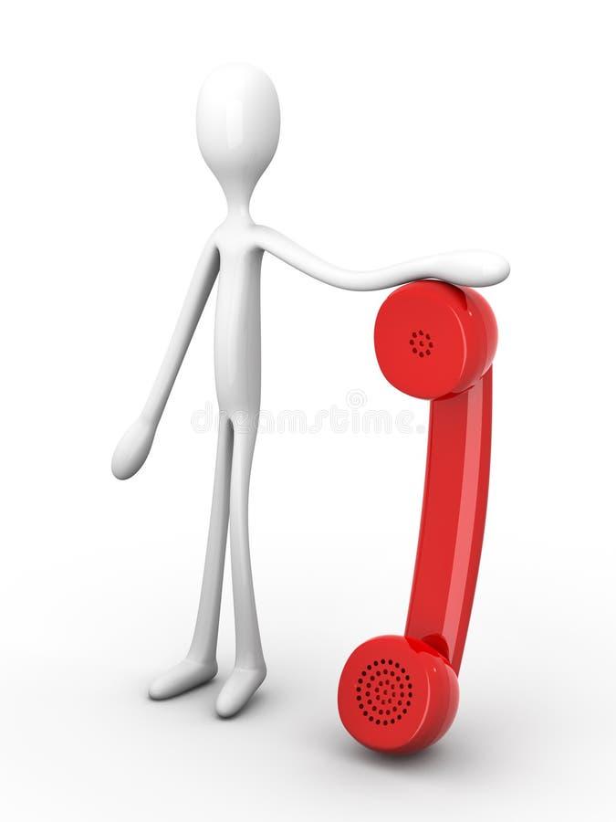 Prendendo um telefone ilustração do vetor