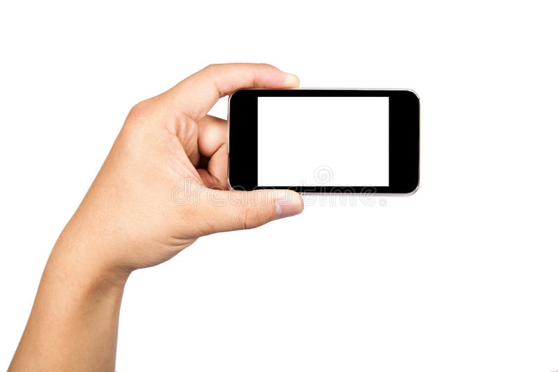 Prendendo um telefone da câmera fotos de stock
