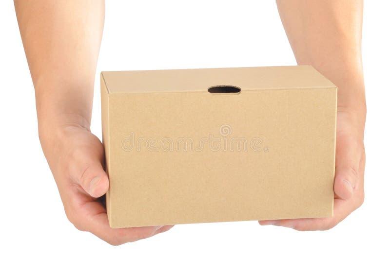 Prendendo uma caixa de papel fotografia de stock