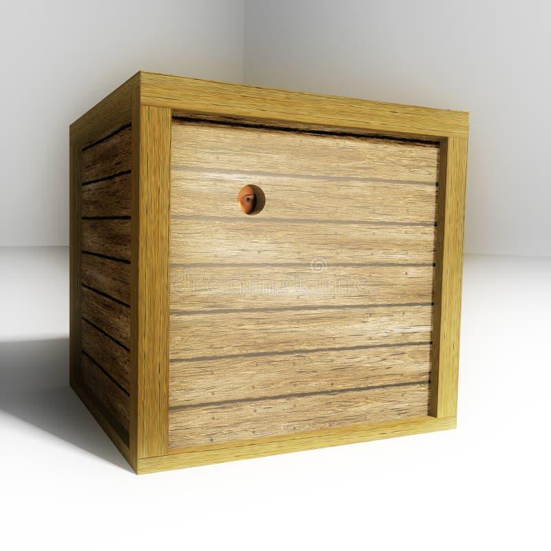 Prendido em uma caixa ilustração do vetor