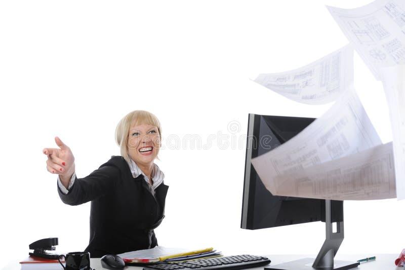 Prenez garde de l'employé de bureau photo libre de droits