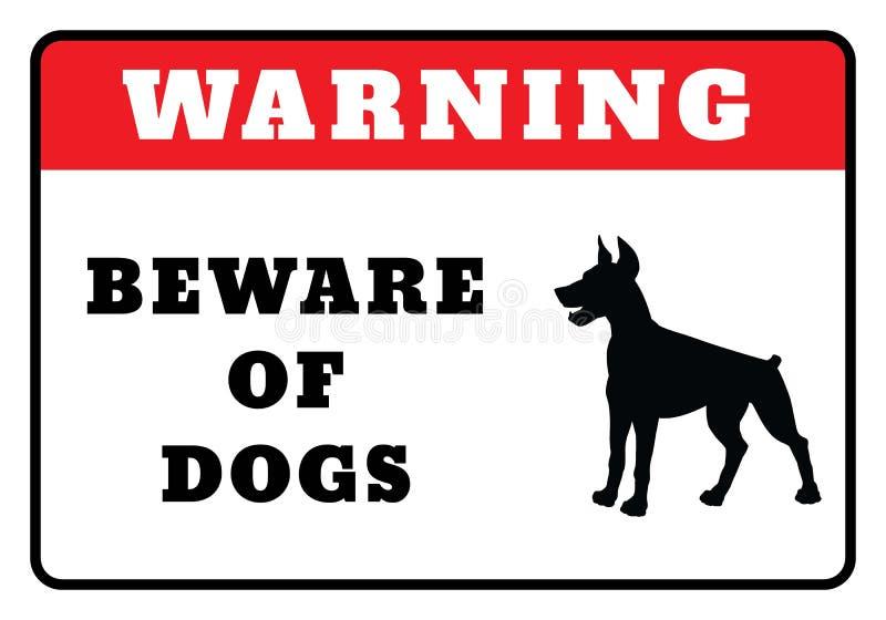 Prenez garde des chiens signent illustration de vecteur