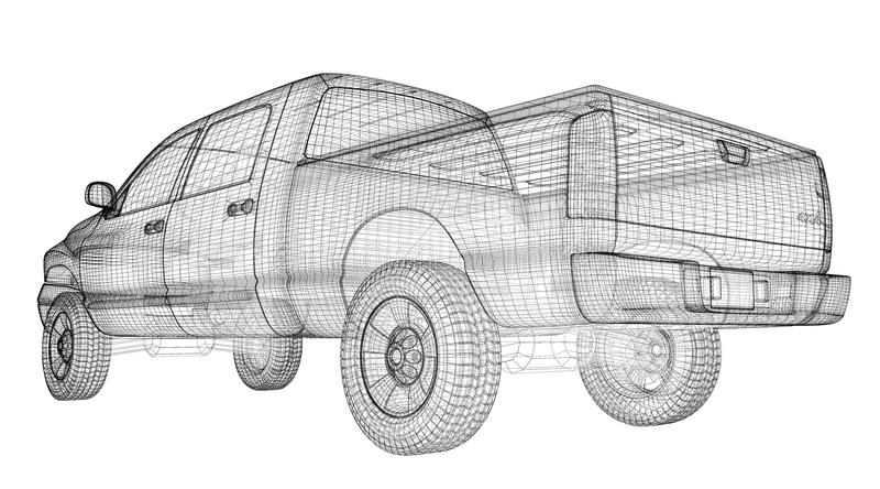 Prenez le camion illustration stock