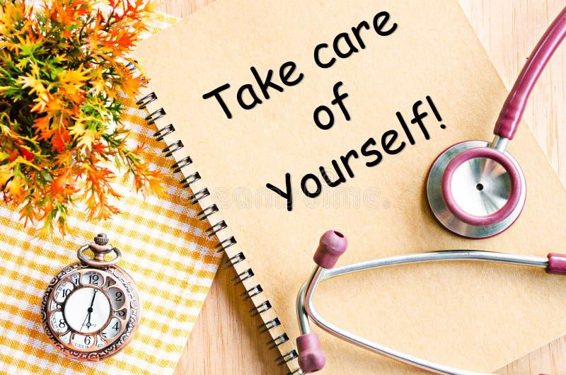 Prenez soin de vous-même photo libre de droits
