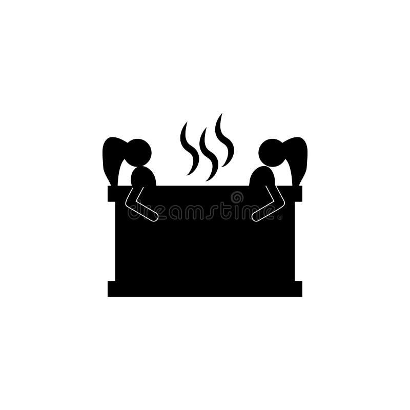Prenez un bain Éléments d'icône de salle de beauté Conception graphique de qualité de la meilleure qualité Signes, icône de colle illustration libre de droits