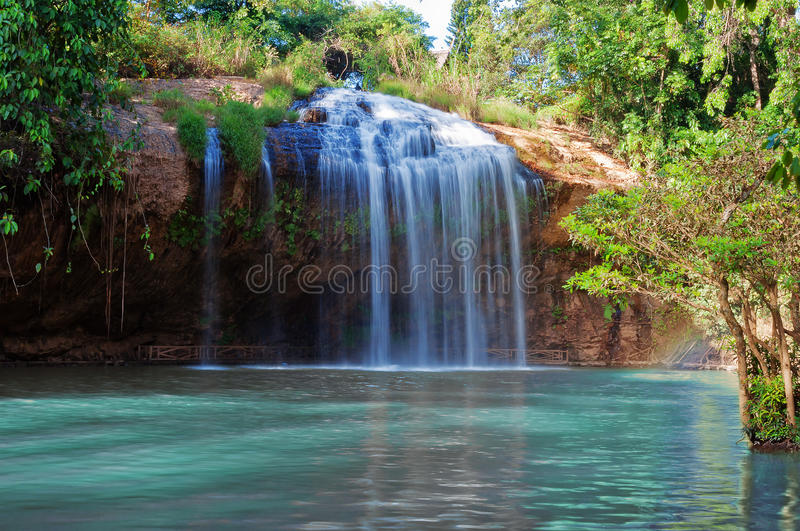 Prenn Waterfall. Da lat. Vietnam. Prenn is one of the waterfalls retained the pristine of the Highland mountains. 10 km south of the city royalty free stock photos