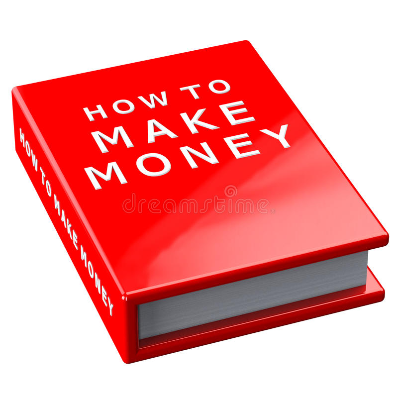 Prenoti come fare i soldi su fondo bianco fotografia stock libera da diritti