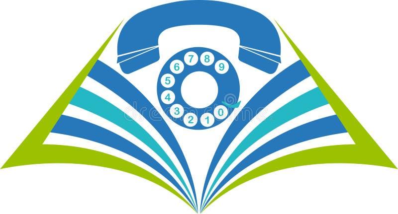 Prenoti il logo del telefono royalty illustrazione gratis