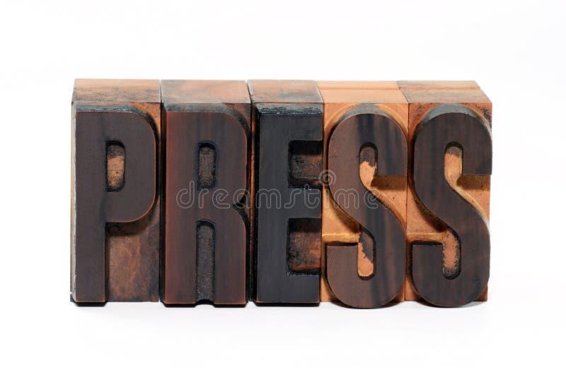 Prensa fotos de archivo libres de regalías