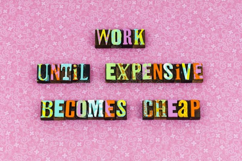 Prensa de copiar barata costosa del coste del precio del trabajo foto de archivo