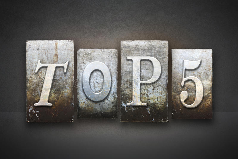 Prensa de copiar del top 5 fotos de archivo libres de regalías
