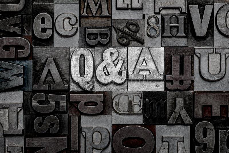 Prensa de copiar Q&A fotos de archivo libres de regalías