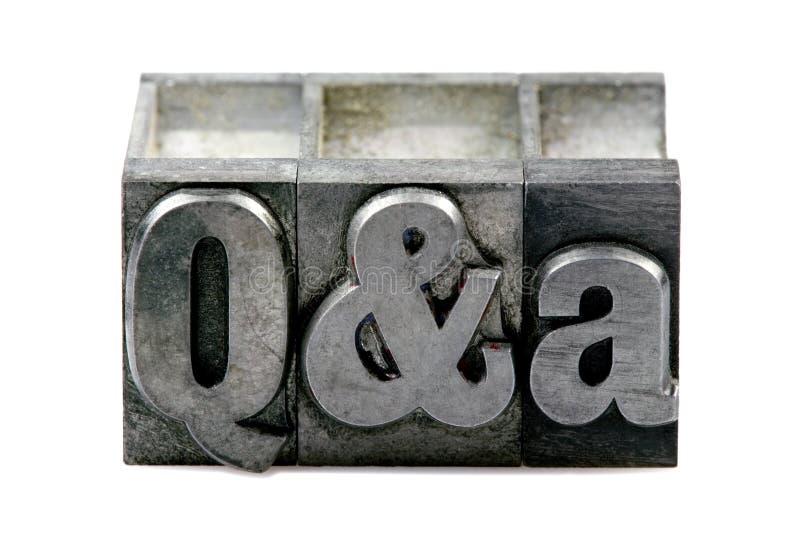 Prensa de copiar Q&A imagenes de archivo