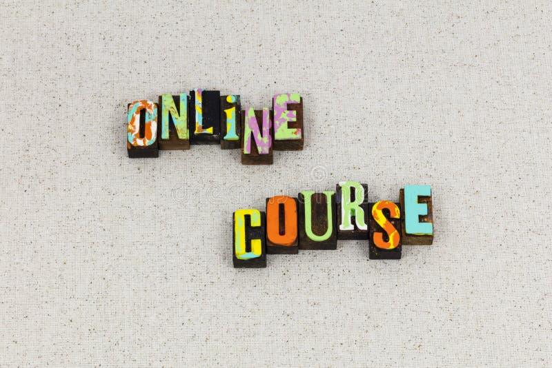 Prensa de copiar webinar de la educación en línea del curso foto de archivo libre de regalías