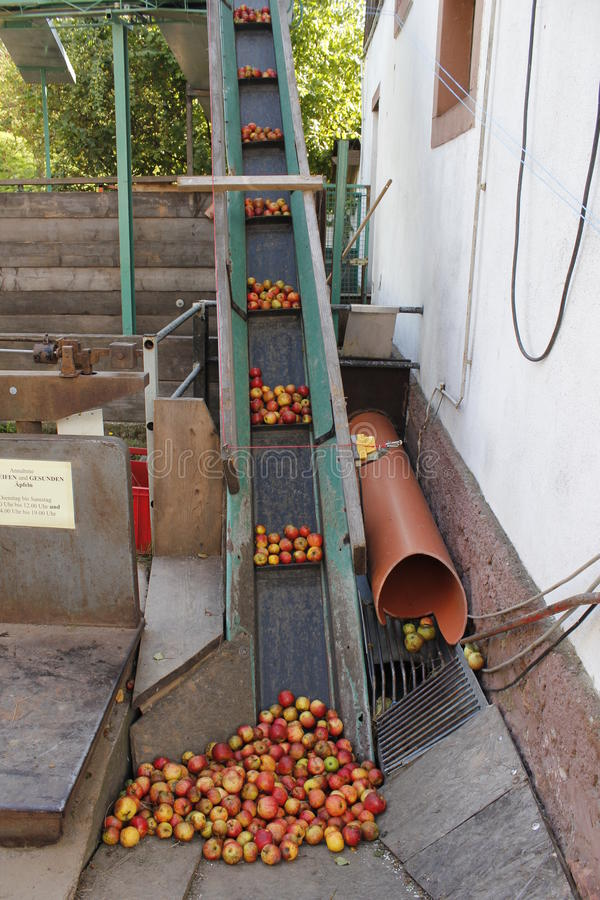 Prensa de vino de Apple fotografía de archivo