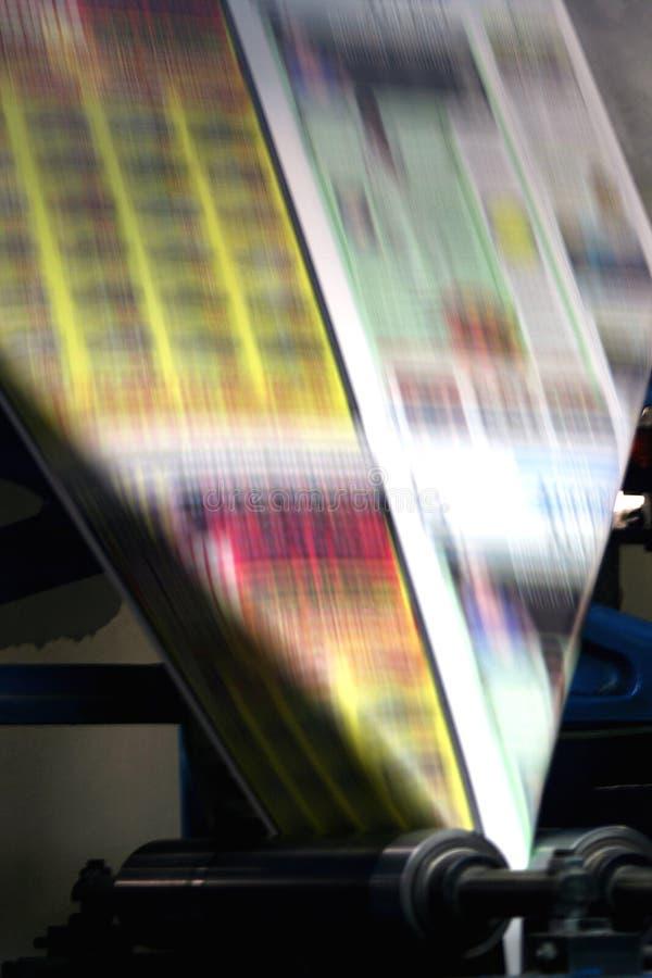 Prensa del periódico fotografía de archivo libre de regalías