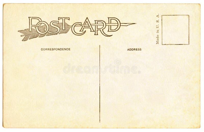 Prentbriefkaar - 1910 stock afbeelding