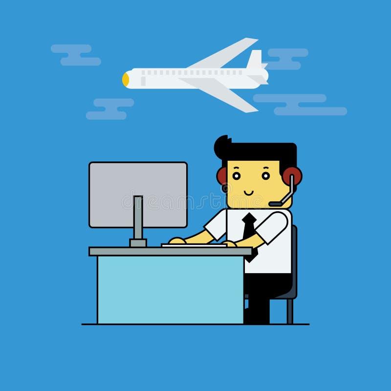 Prentbriefkaar aan de dag van de manager van de Luchtvaart stock illustratie