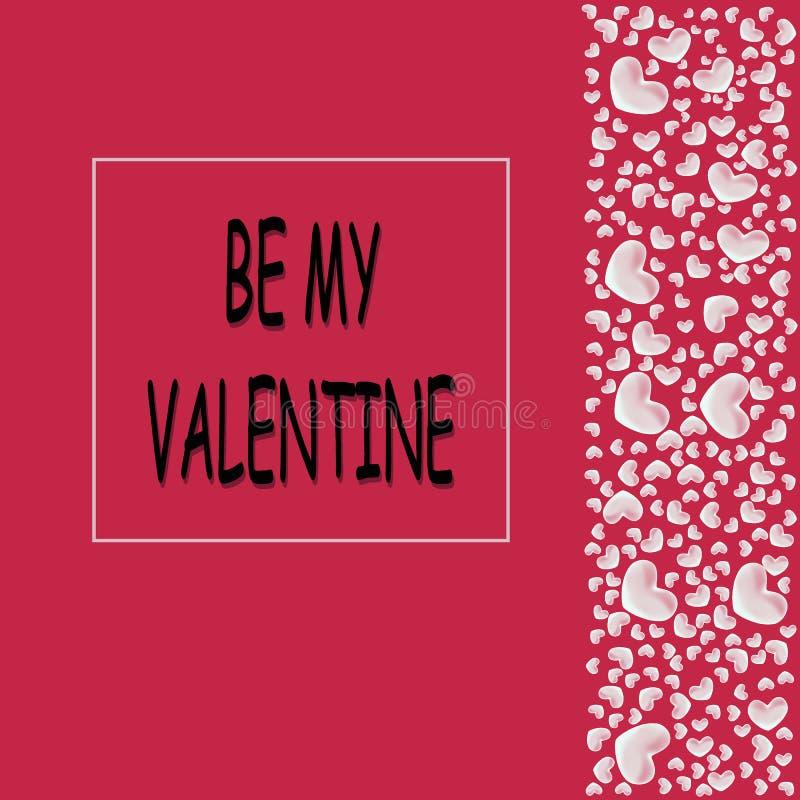 Prentbriefkaar aan de Dag van de Valentijnskaart stock foto's