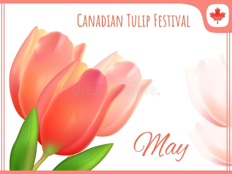 Prentbriefkaar - het Canadese festival van de groetkaart stock illustratie