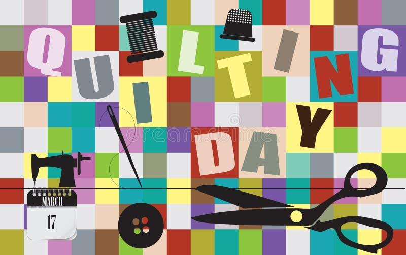 Prentbriefkaar het Watteren Dag royalty-vrije illustratie