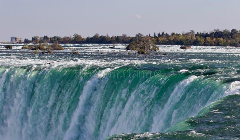 Prentbriefkaar met een verbazende Niagara-waterval royalty-vrije stock afbeelding