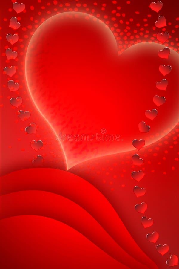 Prentbriefkaar voor de dag van de gedenkwaardige Valentijnskaart stock illustratie