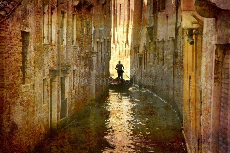 Prentbriefkaaren van Italië (reeks) stock foto's
