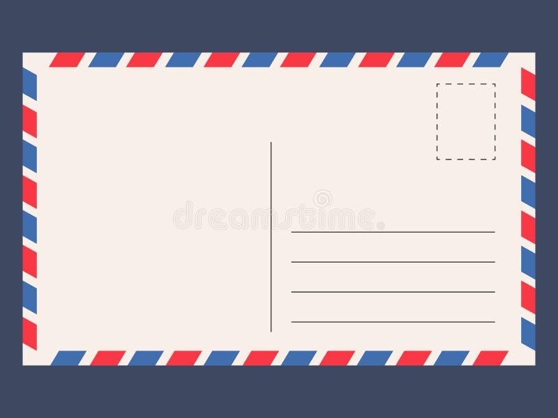 Prentbriefkaarmalplaatje vector illustratie