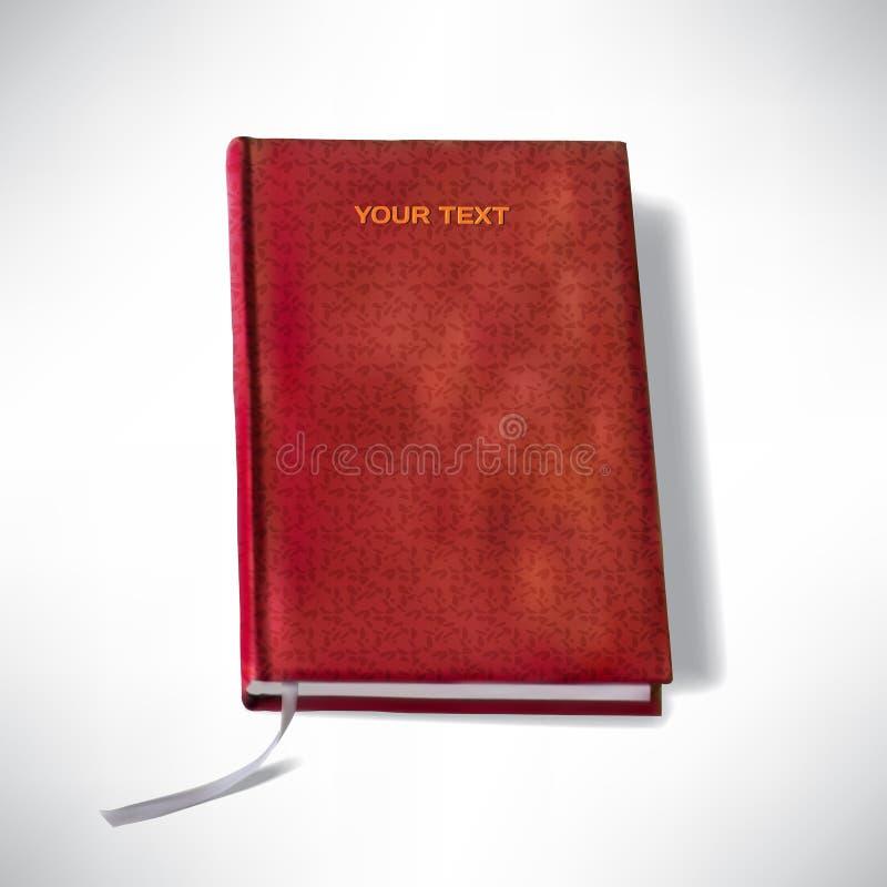 prentenboek met een referentie op een wit stock illustratie