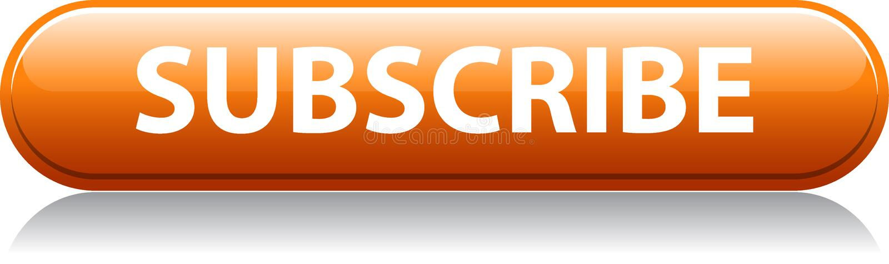 Prenumerera den orange knappen royaltyfri illustrationer