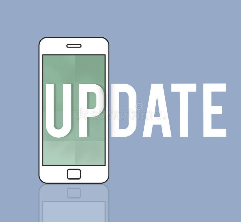 Prenumererar senast nyheterna för mobilen uppdateringen royaltyfri illustrationer