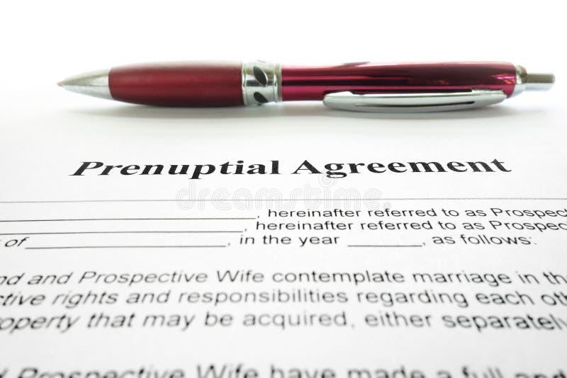 Prenup协议 免版税库存图片