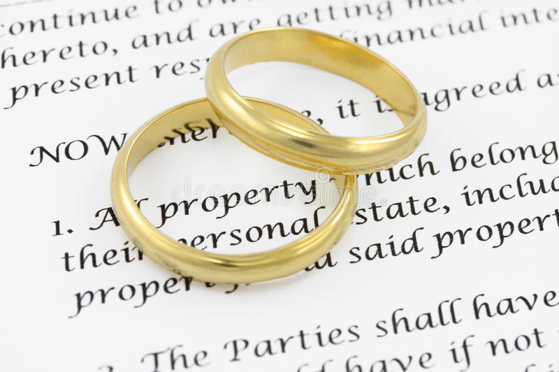 Prenuptial ( premarital ) agreement royalty free stock photos