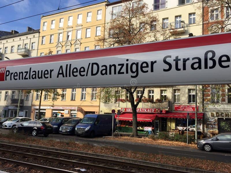 Prenzlauer Allee/Danziger Strasse, Berlino, Germania fotografia stock libera da diritti