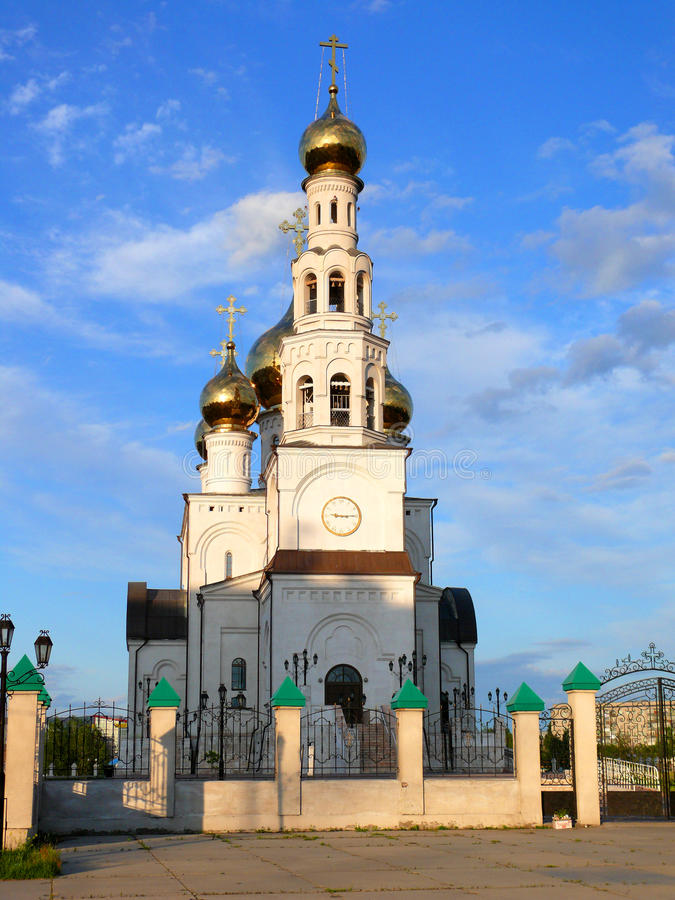 Free Preobrazhenskiy Cathedral In Beams Of The Coming S Royalty Free Stock Photos - 25913908