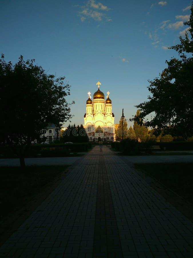 Preobrazhensky Cathedral in the city of Togliatti, Samara region. Преображенский Собор в городе Тольятти, Самарская область royalty free stock image