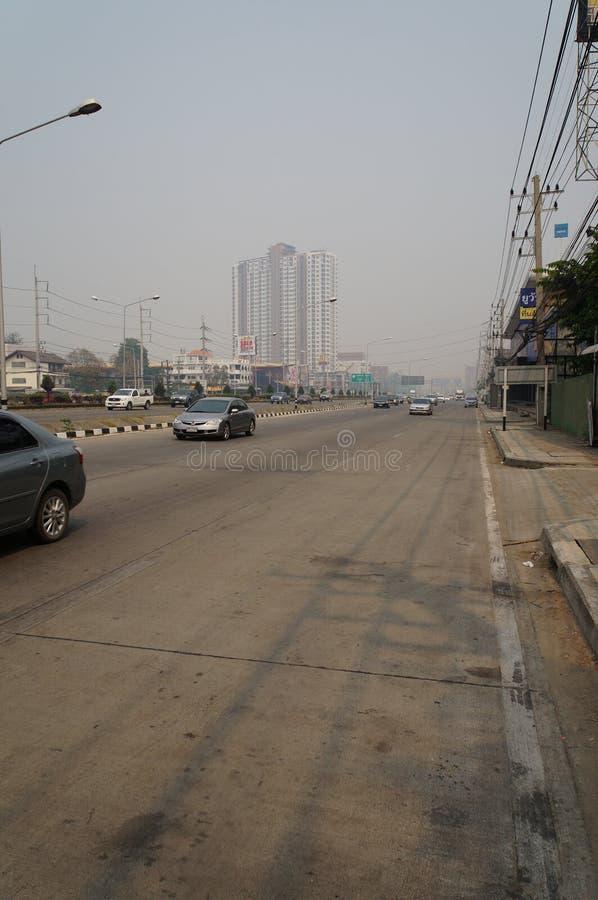 Preoccupare qualità dell'aria in Chiangmai immagine stock libera da diritti